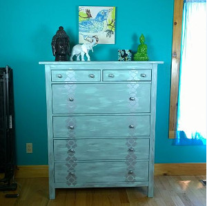 Tropical Teal Shimmery Dresser