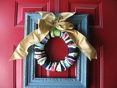 Finished Sock Wreath