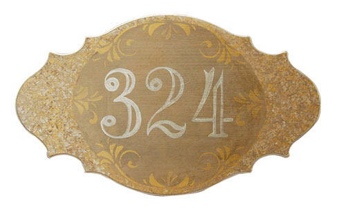 Elegant Painted House Plaque
