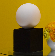 Ball and Cube Tabletop Sculpture