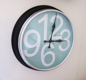 crate and barrel knockoff clock