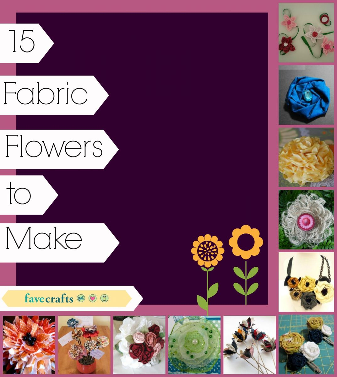 15 Fabric Flowers to Make
