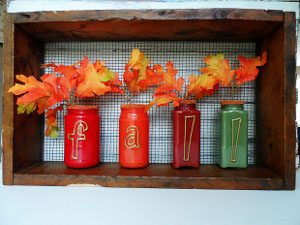 Rustic Fall Vases