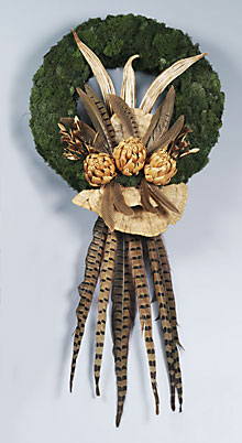Feather and Mushroom Wreath
