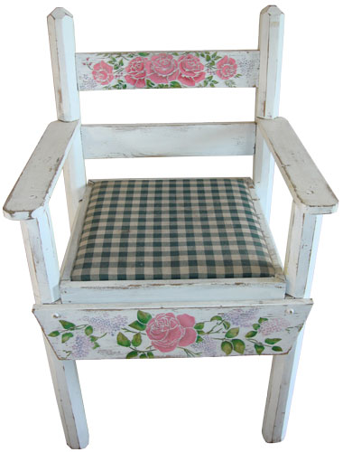 Stenciled Floral Chair
