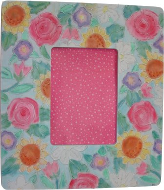 Glue Embossed Floral Frame