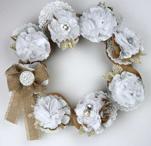 Fancy Whitewashed Wreath
