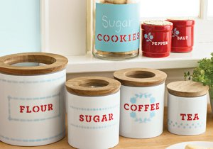 Martha Stewart Knockoff Canisters