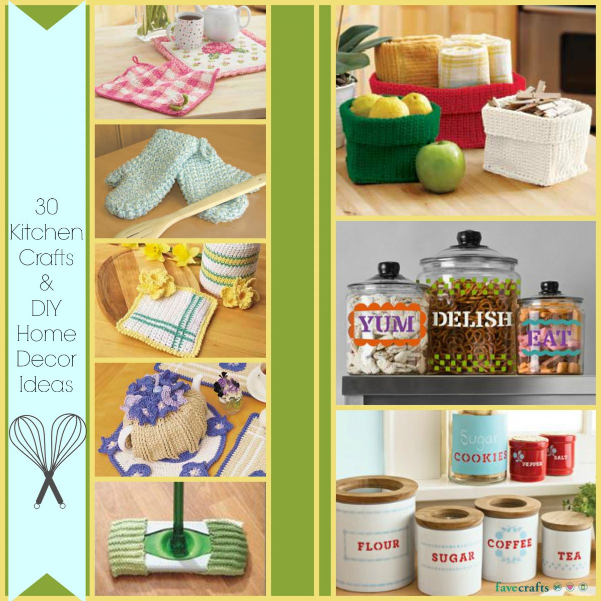 30 kitchen crafts and diy home decor ideas for Art and craft ideas for home decoration