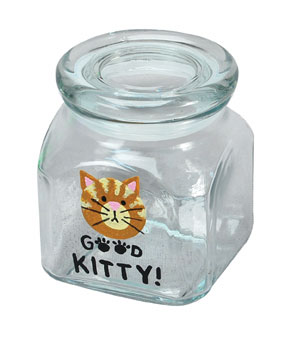 Painted Kitty Treat Jar