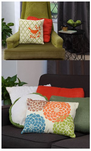 Perfectly Painted Pillows