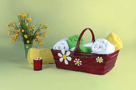 Flower Bathroom Basket