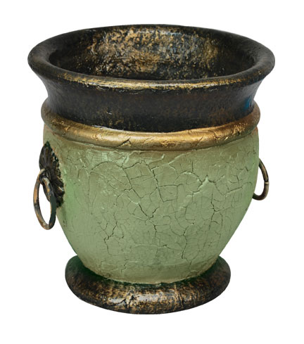 Crackle Textured Outdoor Urn