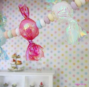 Faux Candy Garland