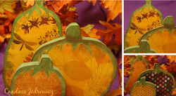 Decoupage Wood Pumpkin