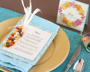 Quilled Thanksgiving Place Setting