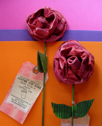 Recycled Coffee Cup Rose