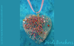 Look of Fused Glass Heart Pendant