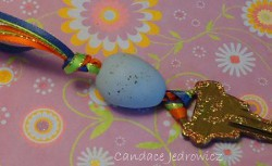 Polymer Clay Egg Bead