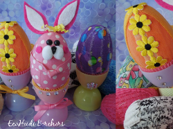 Scrap Fabric Easter Eggs