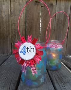 Patriotic Mason Jar Luminaries