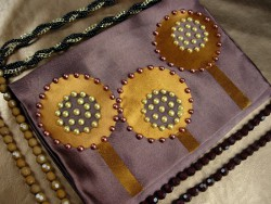 Faux Beaded Jewelry Pouch