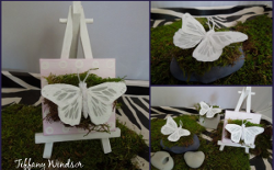 Mixed Media Butterfly Tablescape