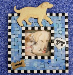 Marvelous Dog Mosaic Frame