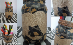 Sparkly Cheetah Print Jar