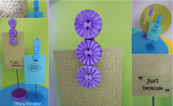 Colorful Button Photo Holders