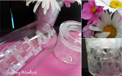 Fuax Etched Bathroom Jars