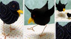 Dancing Felt Crow