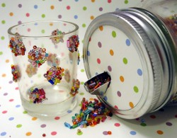 Colorful Bead Jar