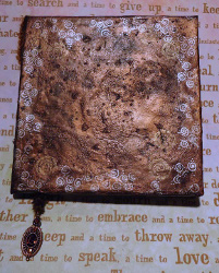 Look of Vintage Burnt Brown Bag Book