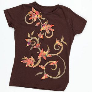 Cascading Autumn Leaves DIY Shirt