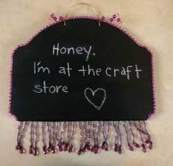 Chalkboard Paint Message Board