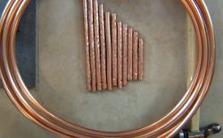 Copper Garden Chimes