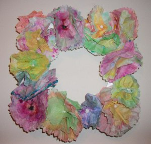 Coffee Filter Flower Frame