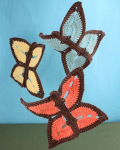 Crochet Butterfly Dishcloth