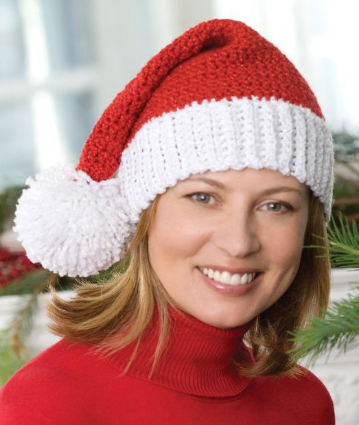 ... festive hat for the holidays with this santa hat knitting pattern