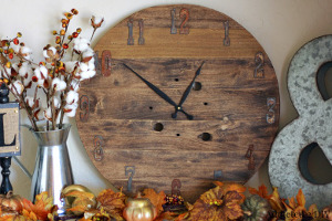 diy rustic & refined clock