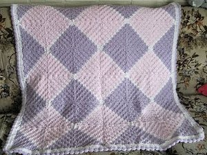 Diamonds From Squares Blanket