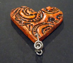 Earthenware Heart Pendant