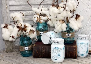 Easy Rustic Mason Jar Decorations