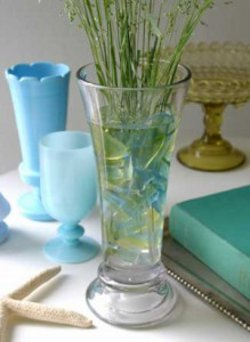 Easy Sea Glass Flower Vase