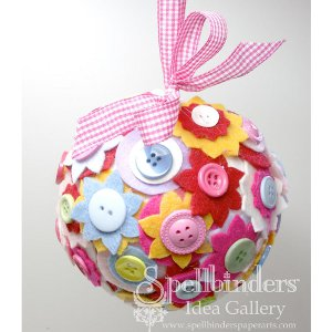 Craft Ideas  Buttons on Felt And Button Decorative Ball   Favecrafts Com