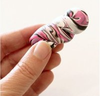 Funky Polymer Clay Crochet Hook Handles