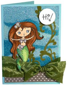 Glittering Mermaid Greeting Card
