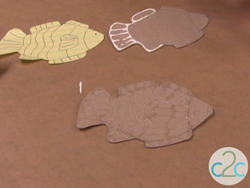 Embossed Look Fish Magnets