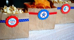 July 4th Snack Bags